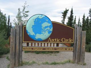 blm arctic circle monument sign