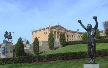 Philadelphia Museum Of Art And Rocky Statue, Philadelphia