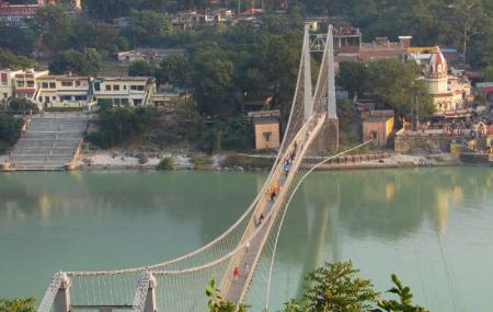 The Ram Jhula Bridge, Rishikesh