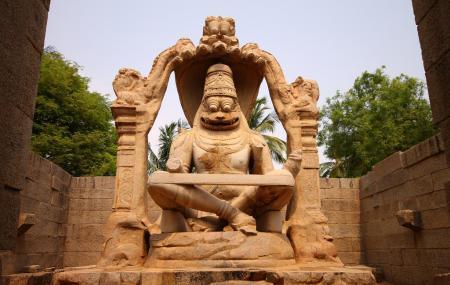 Statue Of Ugra Narasimha, Hampi