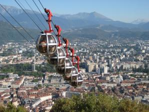 Bastille And The Cable Car , Grenoble